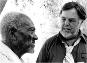 Alan Lomax with man